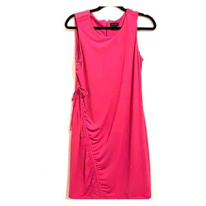 Sleeveless pink gold ray dress